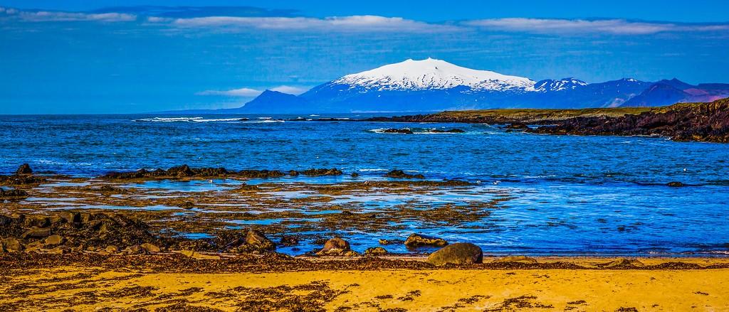冰岛风采,远望雪山_图1-37