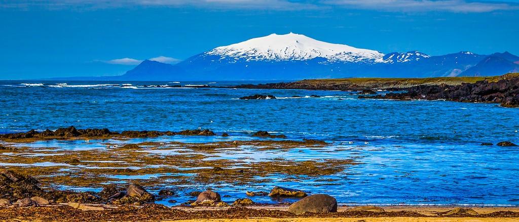 冰岛风采,远望雪山_图1-34