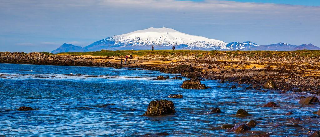 冰岛风采,远望雪山_图1-35