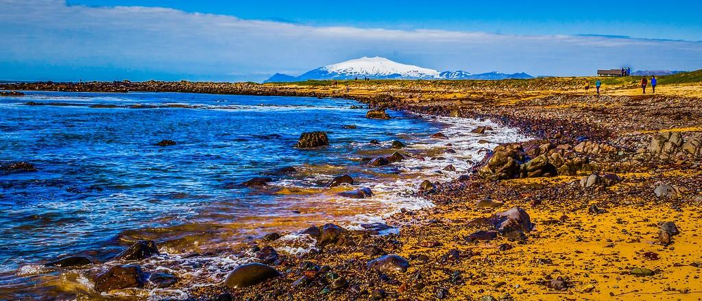 冰岛风采,远望雪山_图1-30
