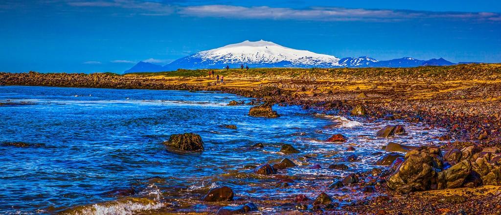 冰岛风采,远望雪山_图1-33