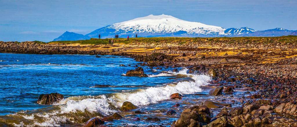 冰岛风采,远望雪山_图1-29