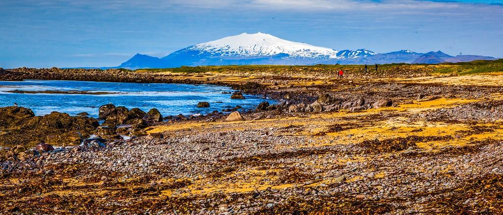 冰岛风采,远望雪山_图1-31
