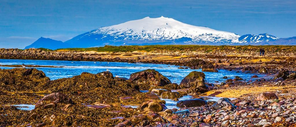 冰岛风采,远望雪山_图1-32