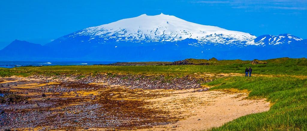 冰岛风采,远望雪山_图1-27