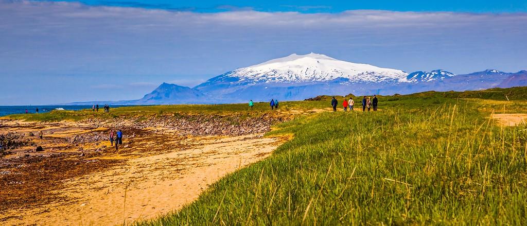 冰岛风采,远望雪山_图1-26