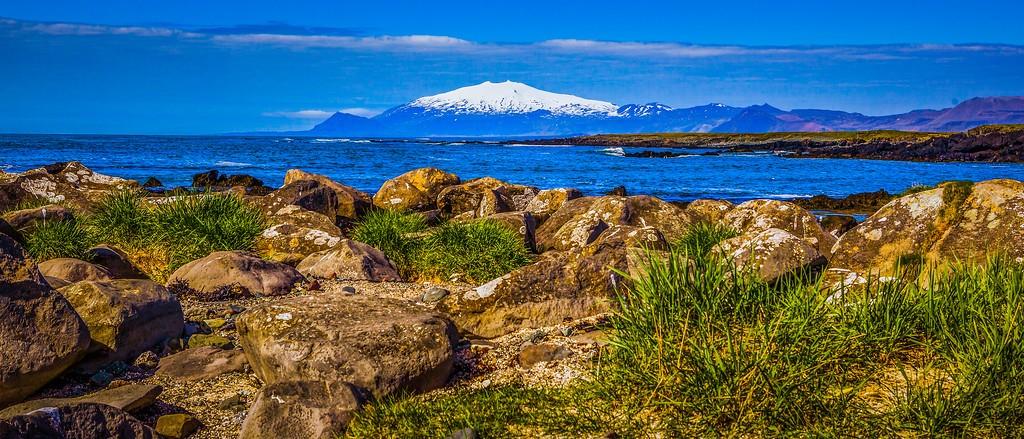 冰岛风采,远望雪山_图1-25