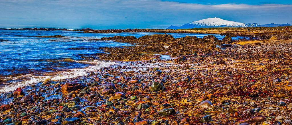 冰岛风采,远望雪山_图1-22