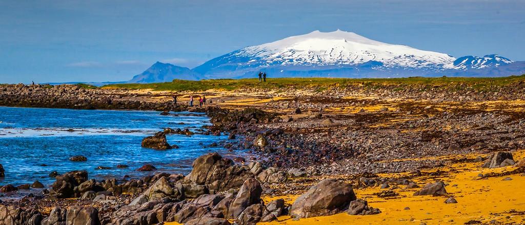 冰岛风采,远望雪山_图1-23