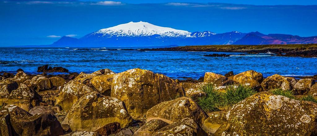 冰岛风采,远望雪山_图1-20