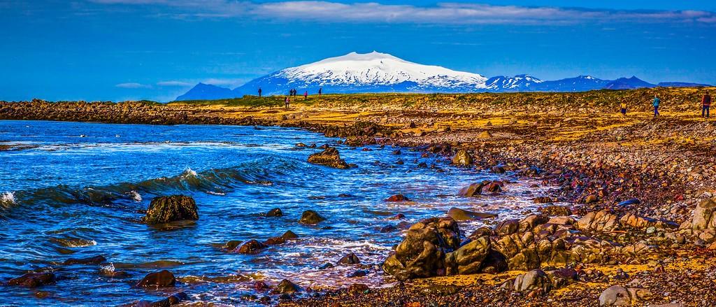 冰岛风采,远望雪山_图1-18