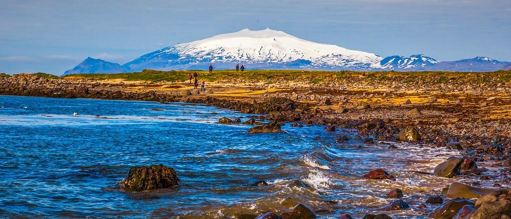冰岛风采,远望雪山_图1-14