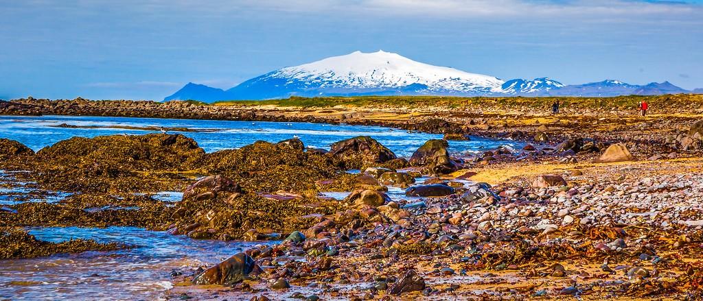 冰岛风采,远望雪山_图1-17