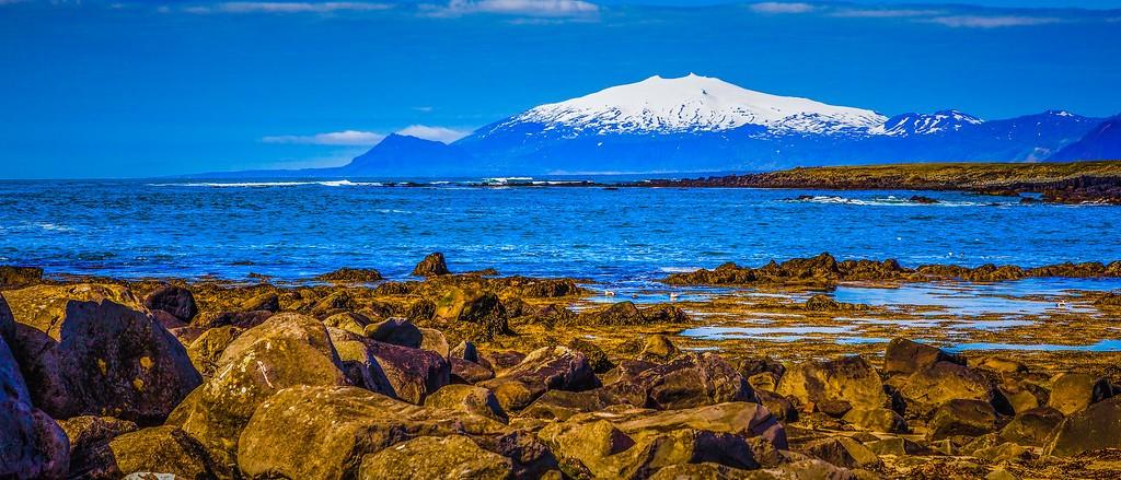 冰岛风采,远望雪山_图1-13