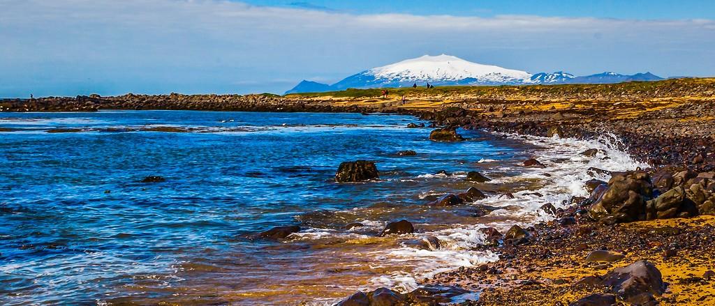 冰岛风采,远望雪山_图1-9