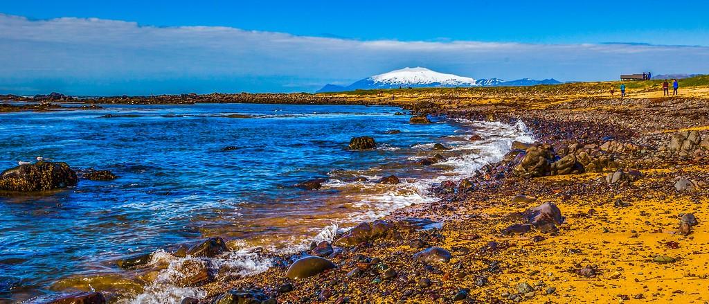 冰岛风采,远望雪山_图1-6