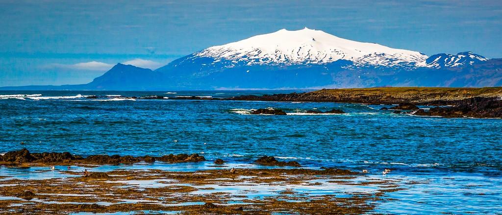 冰岛风采,远望雪山_图1-3