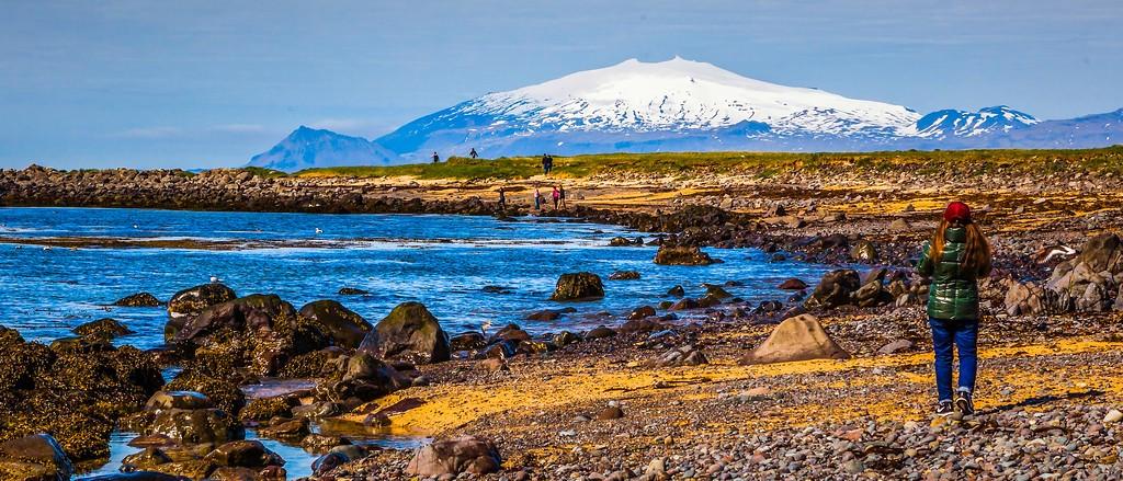 冰岛风采,远望雪山_图1-5