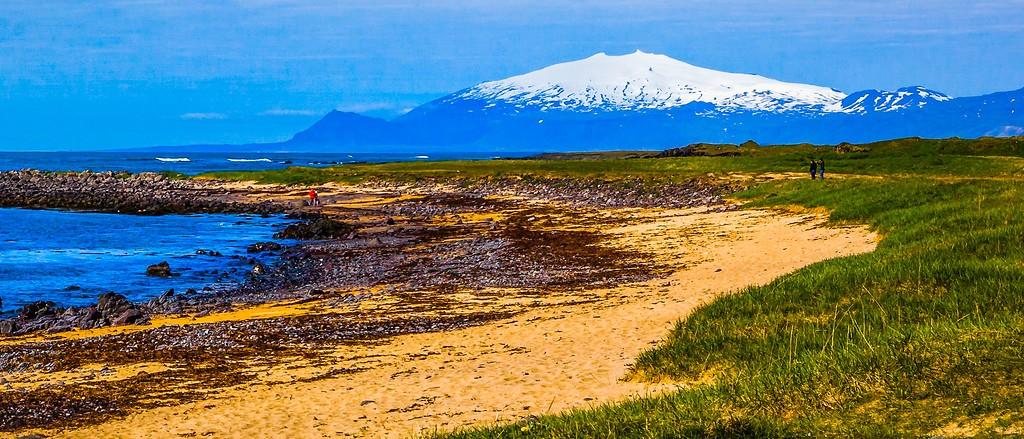 冰岛风采,远望雪山_图1-2