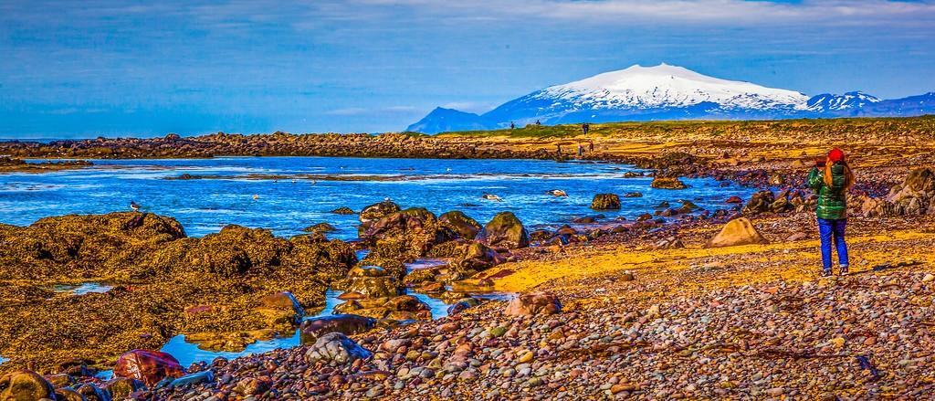 冰岛风采,远望雪山_图1-11