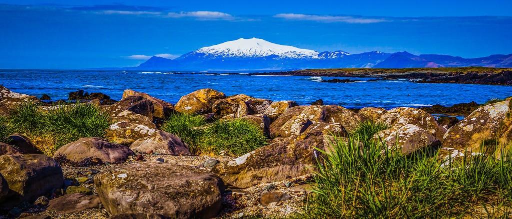 冰岛风采,远望雪山_图1-1