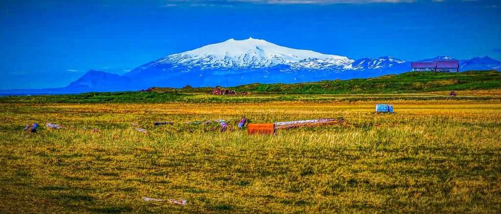冰岛风采,远望雪山_图1-4