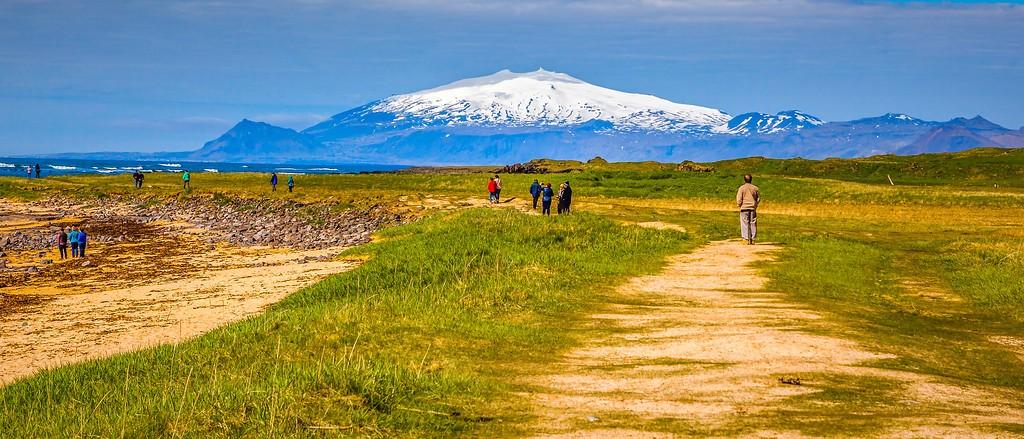 冰岛风采,远望雪山_图1-10