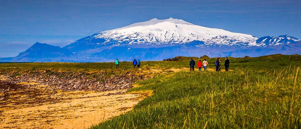 冰岛风采,远望雪山_图1-7