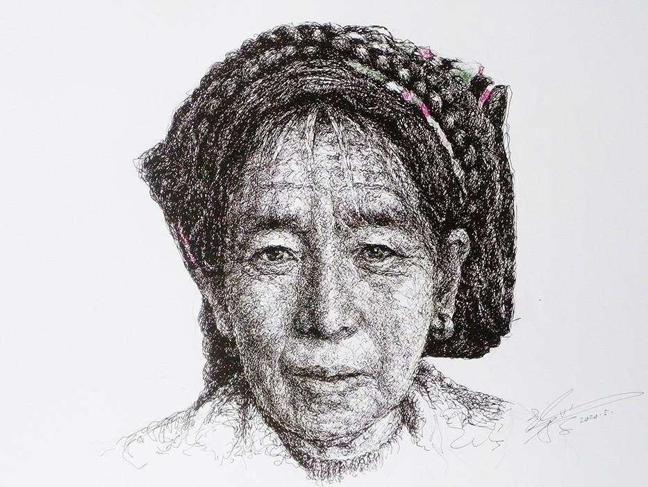 山雪钢笔画——2020作品集_图1-5
