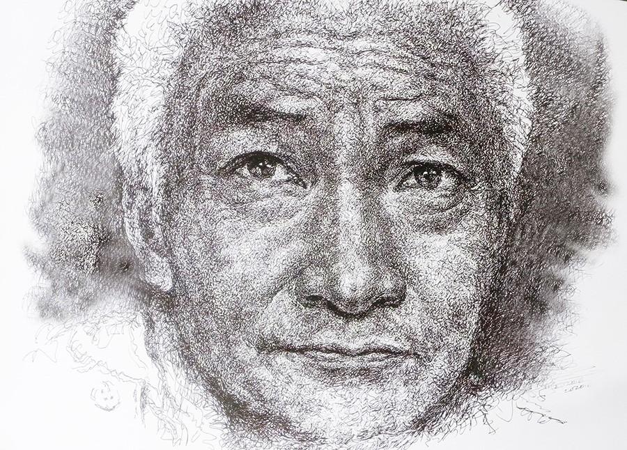 山雪钢笔画——2020作品集_图1-8