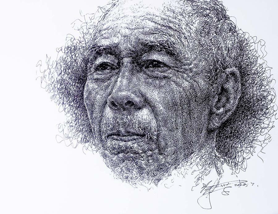 山雪钢笔画——2020作品集_图1-9