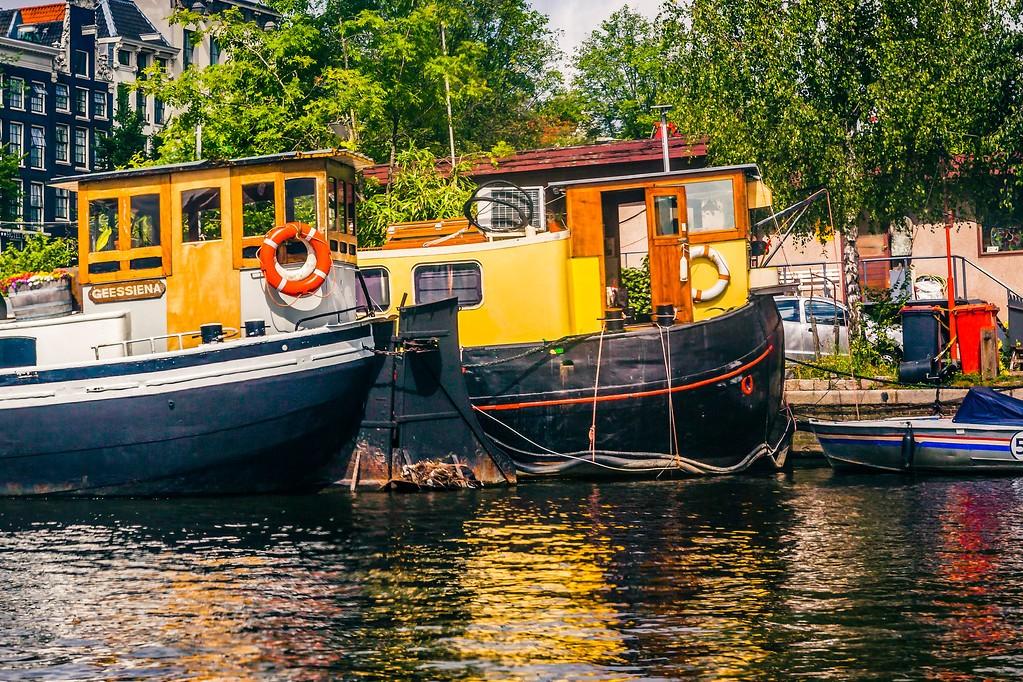 荷兰阿姆斯特丹,水上印象_图1-4