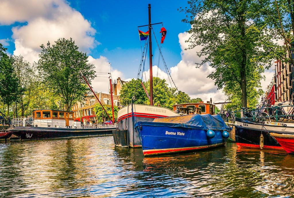 荷兰阿姆斯特丹,水上印象_图1-2