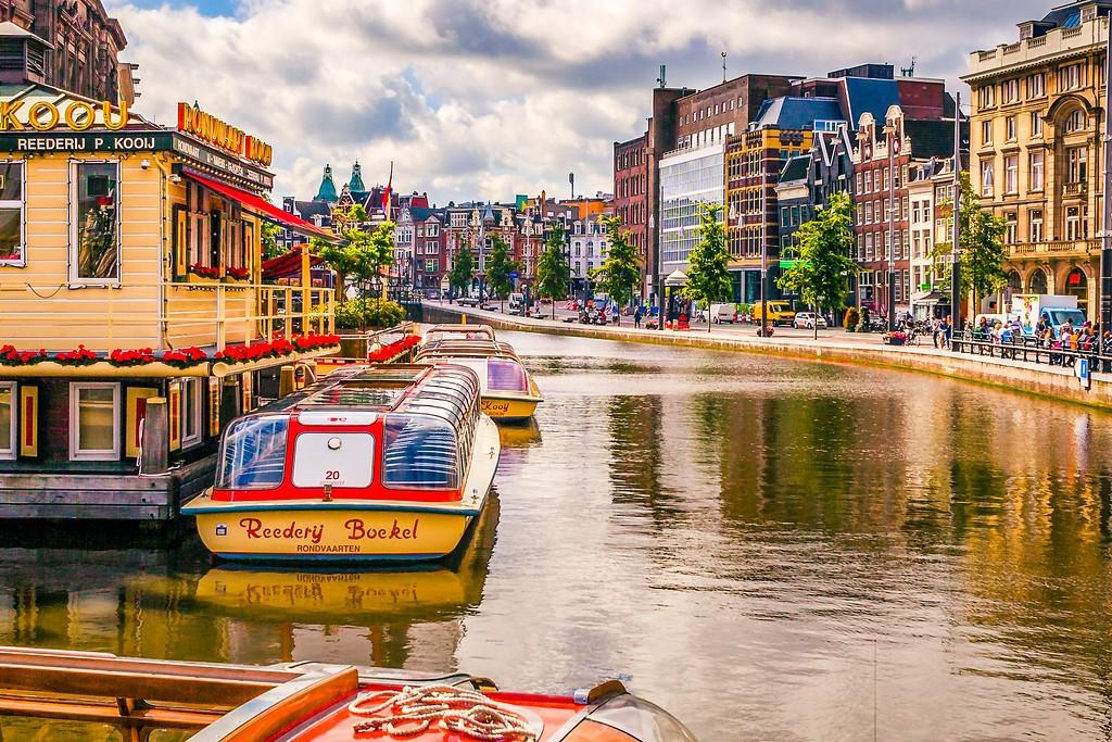 荷兰阿姆斯特丹,水上印象_图1-10