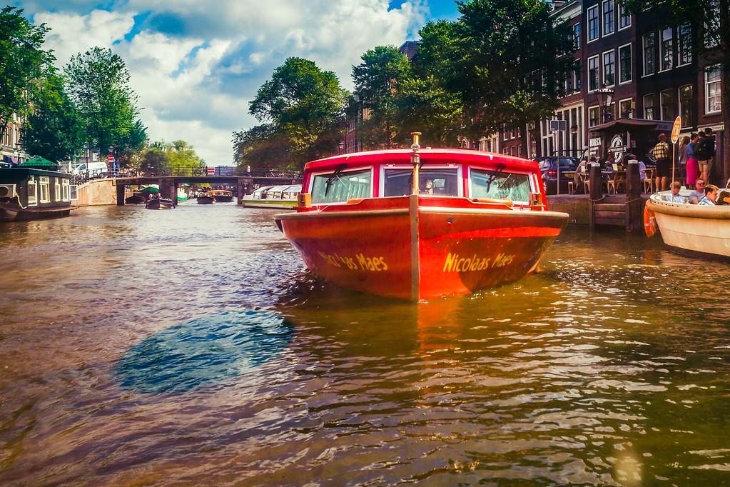 荷兰阿姆斯特丹,水上印象_图1-21
