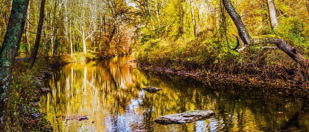 宾州雷德利克里克公园(Ridley creek park),秋意浓浓_图1-2
