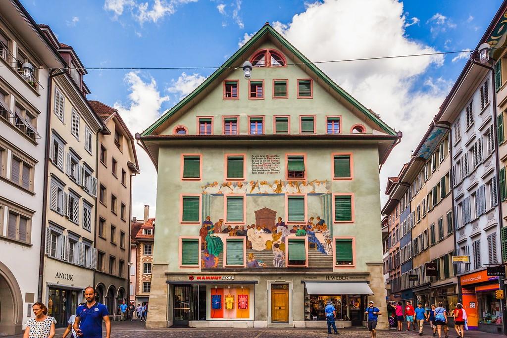 瑞士卢塞恩(Lucerne),城市壁画_图1-11