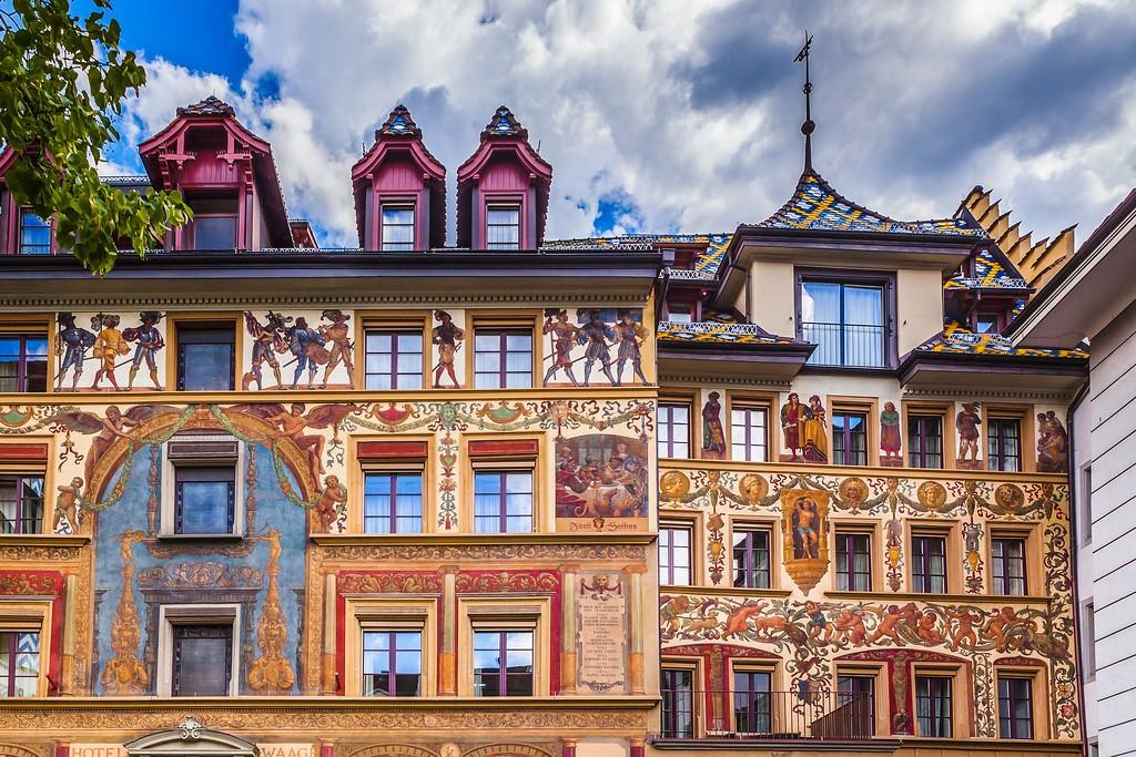 瑞士卢塞恩(Lucerne),城市壁画_图1-10