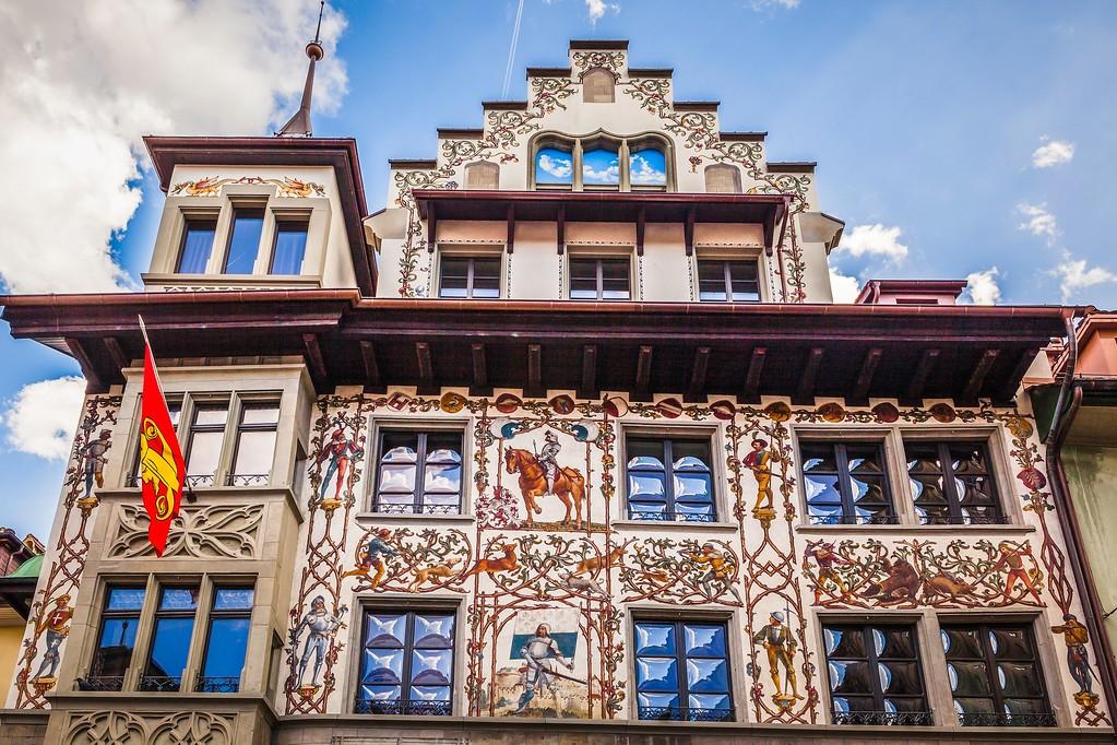 瑞士卢塞恩(Lucerne),城市壁画_图1-7