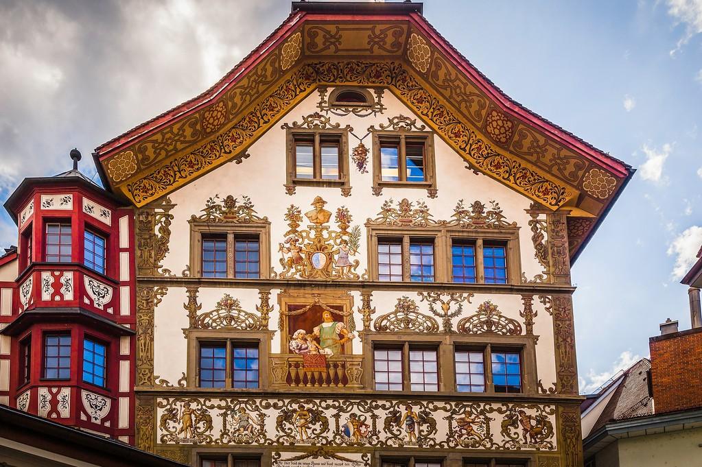 瑞士卢塞恩(Lucerne),城市壁画_图1-2