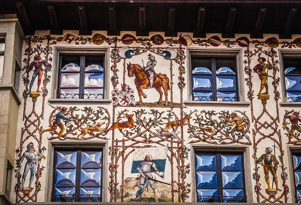 瑞士卢塞恩(Lucerne),城市壁画_图1-4