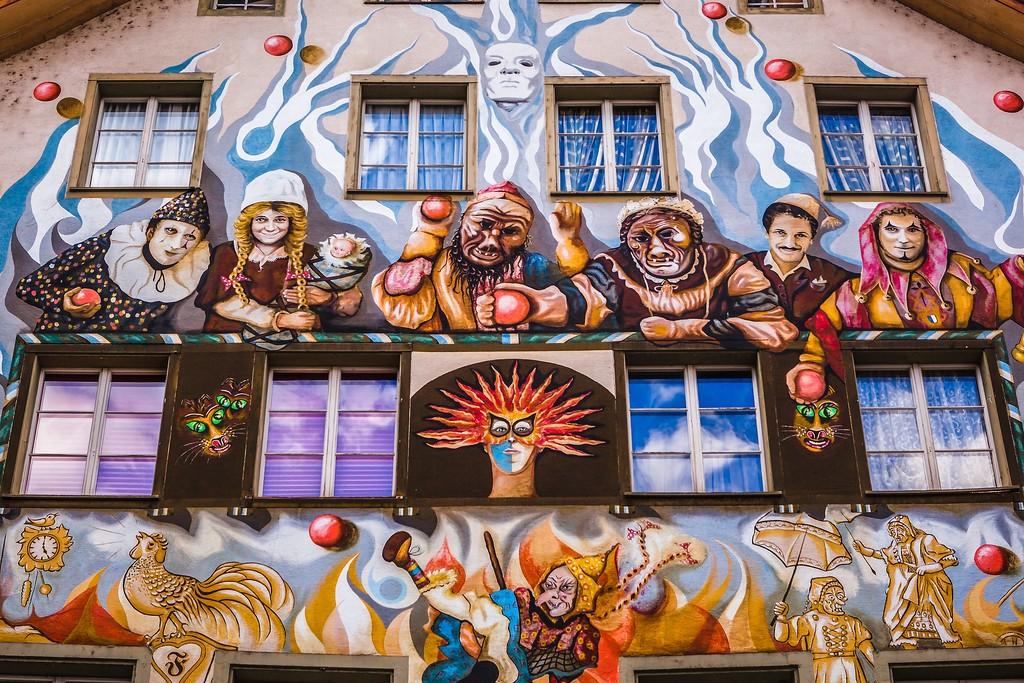 瑞士卢塞恩(Lucerne),城市壁画_图1-1