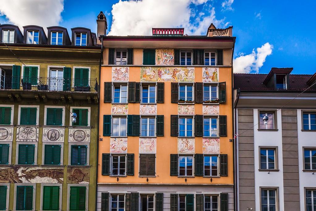 瑞士卢塞恩(Lucerne),城市壁画_图1-5