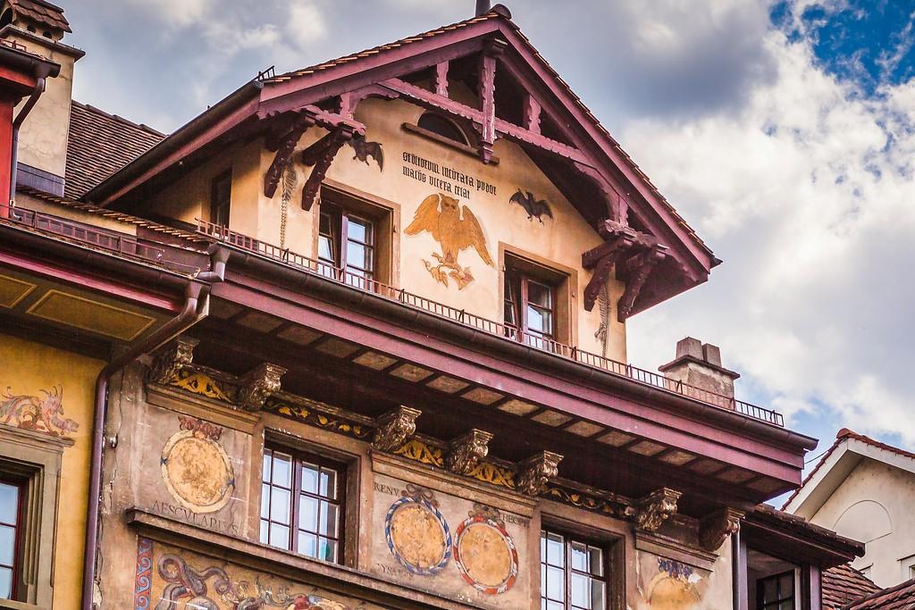 瑞士卢塞恩(Lucerne),城市壁画_图1-13