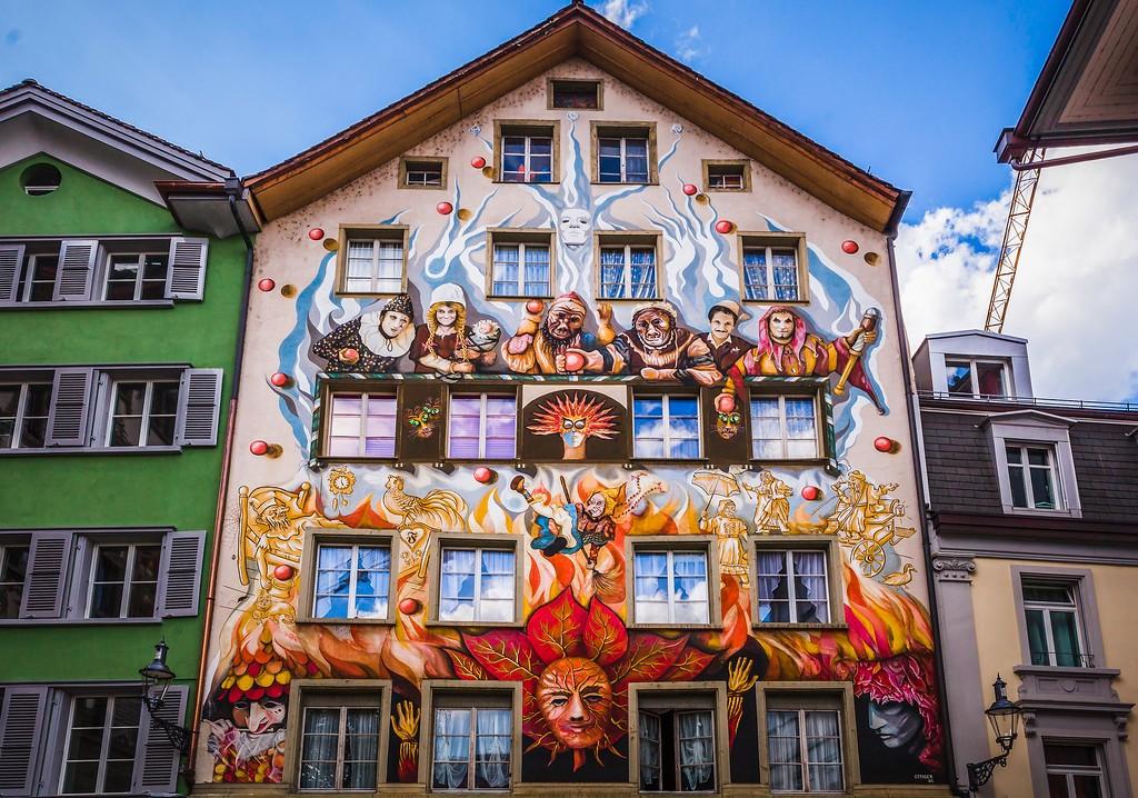 瑞士卢塞恩(Lucerne),城市壁画_图1-15