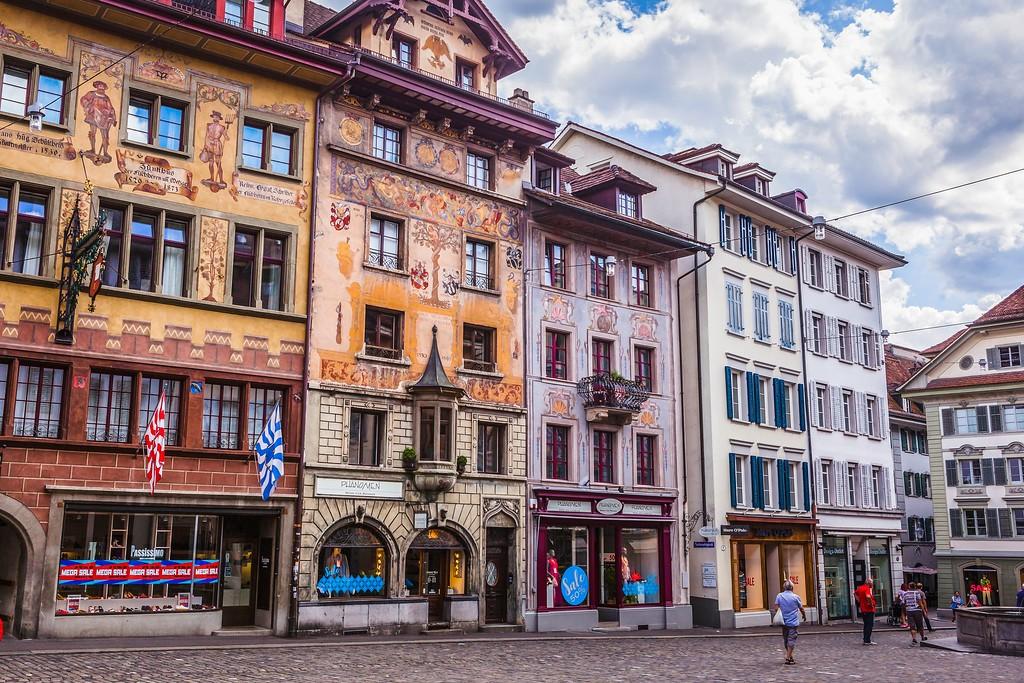 瑞士卢塞恩(Lucerne),城市壁画_图1-18