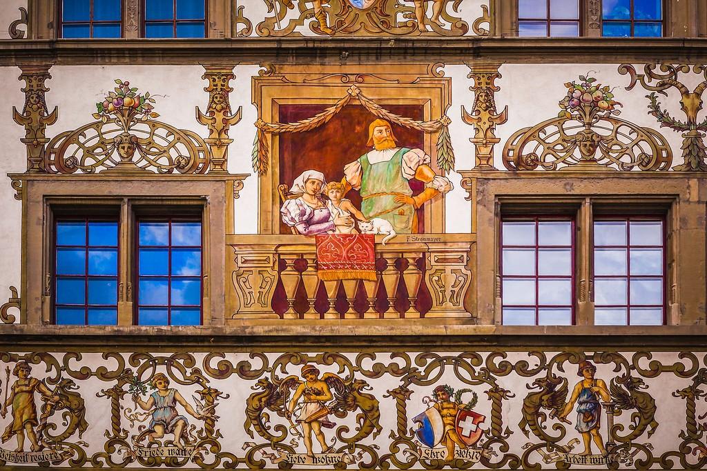 瑞士卢塞恩(Lucerne),城市壁画_图1-17