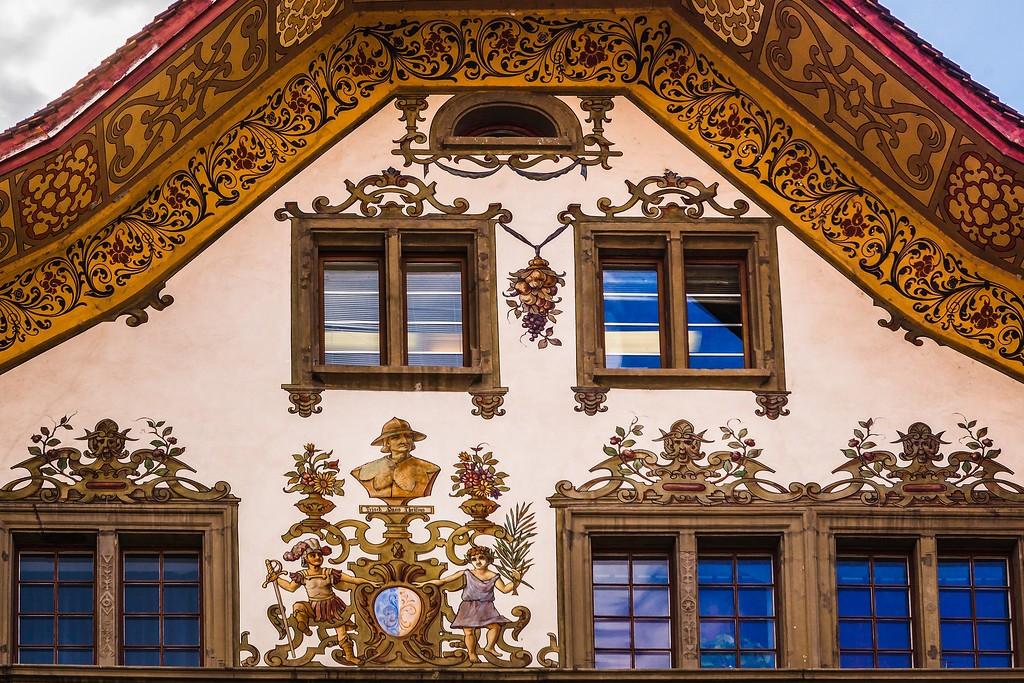瑞士卢塞恩(Lucerne),城市壁画_图1-21