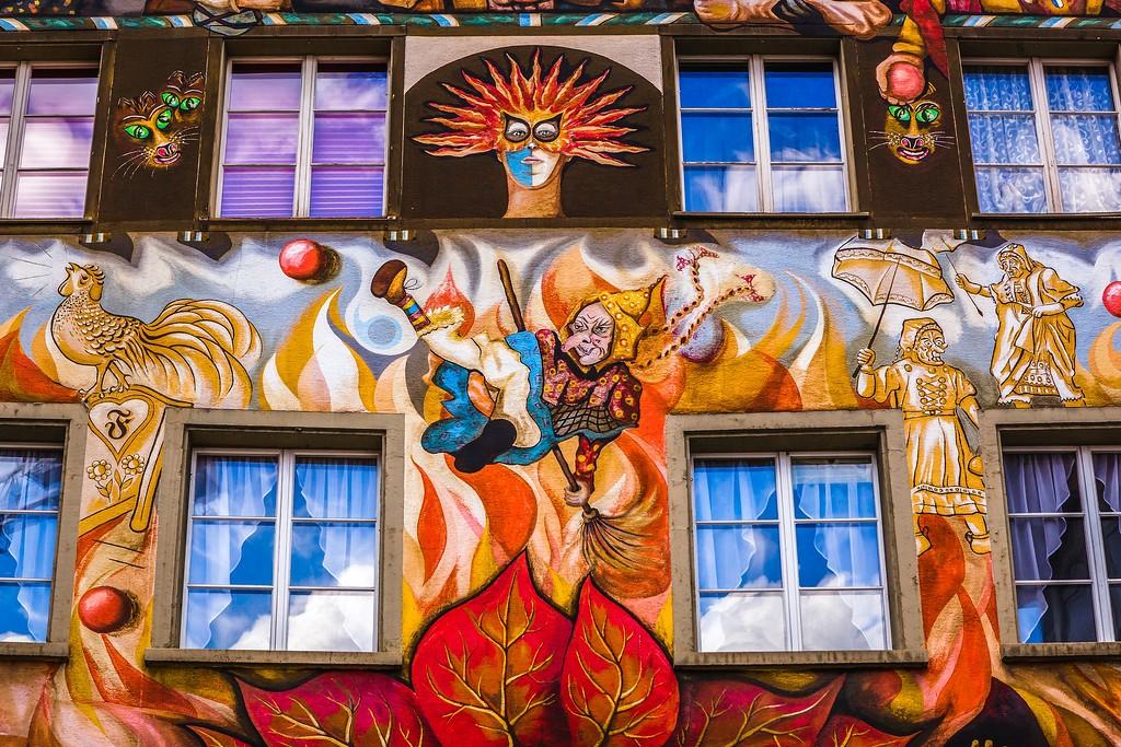 瑞士卢塞恩(Lucerne),城市壁画_图1-22