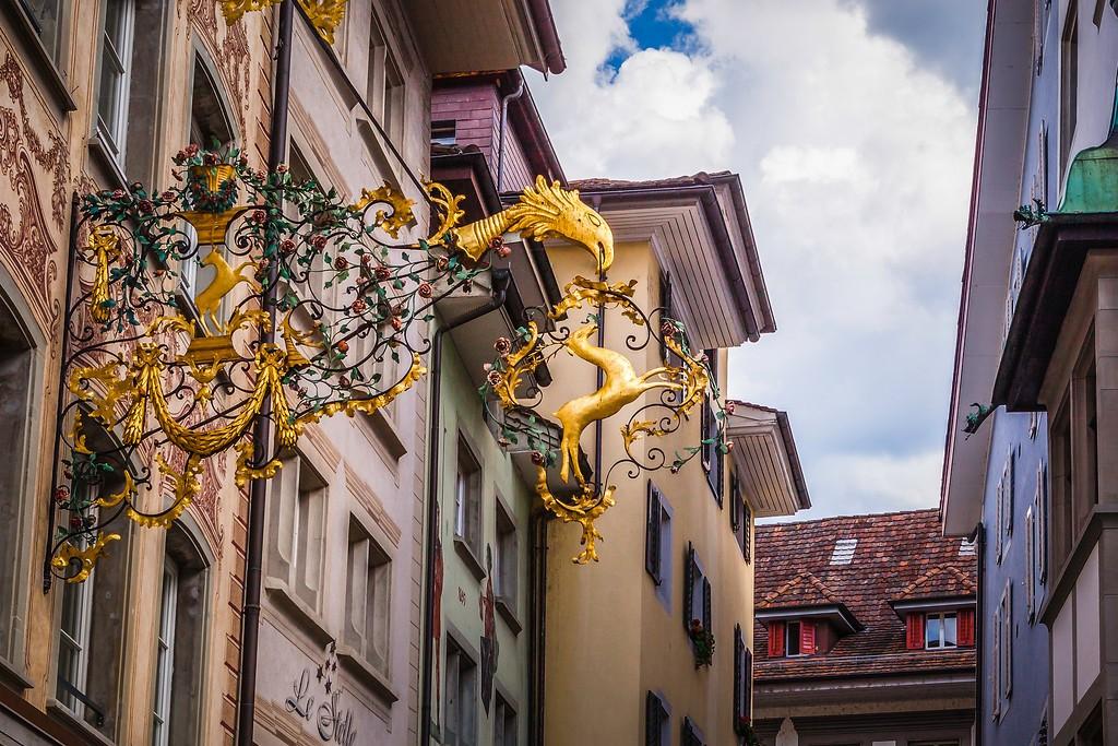 瑞士卢塞恩(Lucerne),城市壁画_图1-23